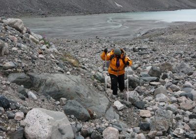 first hike - Greenland glacier
