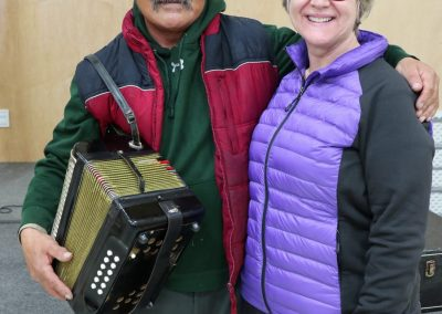 bev with musician