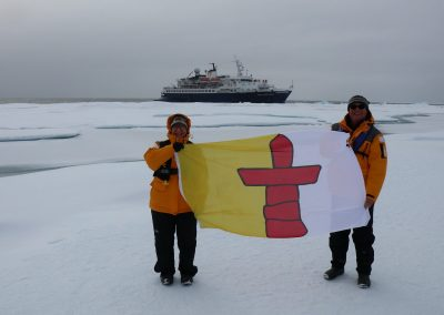 Nunavut Flag on Lancaster Sound
